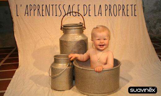 bébé sur un pot apprentissage propreté conseils blog Suavinex
