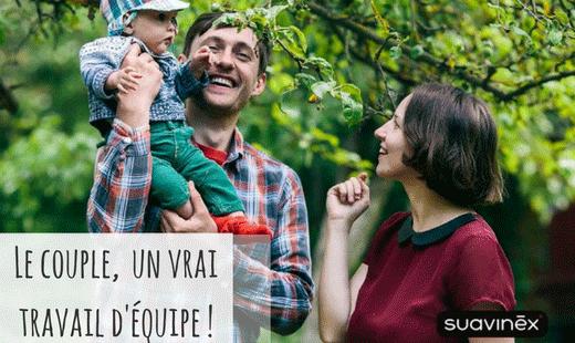 Papa et maman couple travail dequipe conseils blog Suavinex