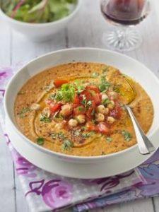 Velouté tomate lentilles et pois chiches conseil blog Suavinex
