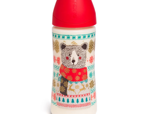 Biberon 360ml rouge ours collection Winter