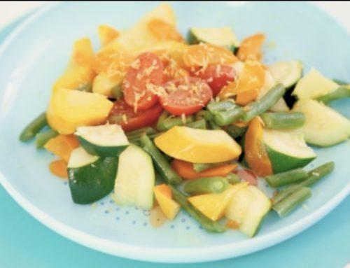 Recette des petits légumes vapeur au citron par Pierre Augé