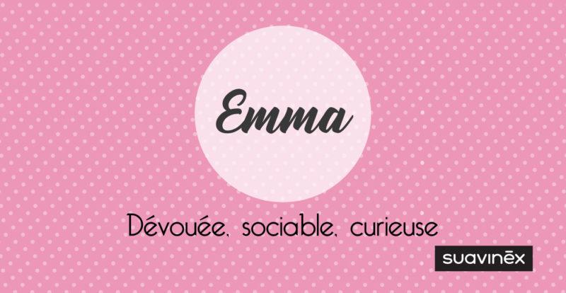 prenom emma signification caractere