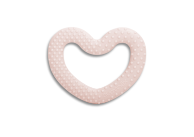 Anneau de dentition coeur rose collection White de Suavinex