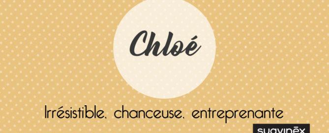 prenom chloe origine signification caractere