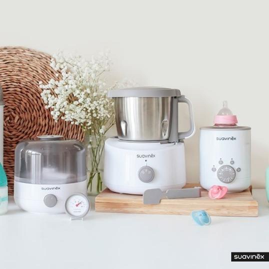 Robot de cuisine, stérilisateur de sucettes, chauffe biberon Suavinex