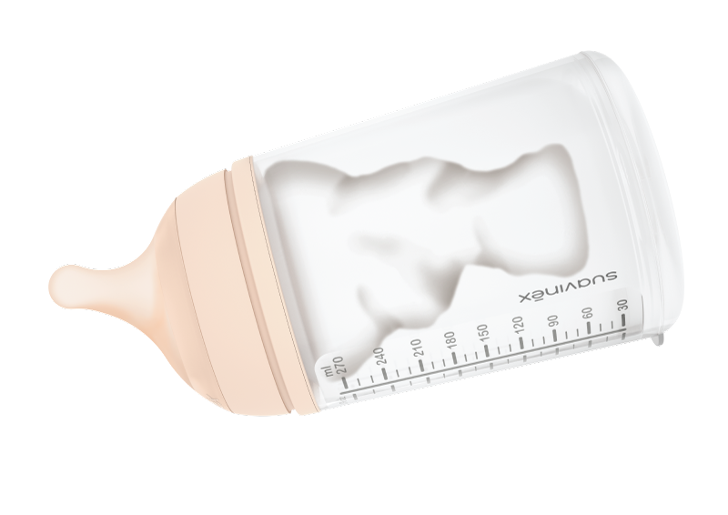 Poche brevetée du biberon anti-colique du nourrisson zero zero