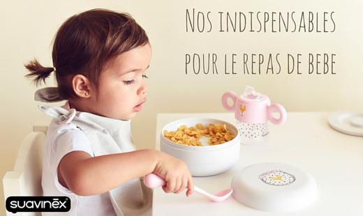 nos indispensables pour le repas de bébé