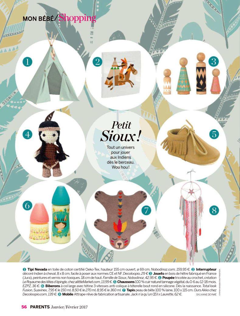 Suavinex dans le magazine Parents Janvier/Février