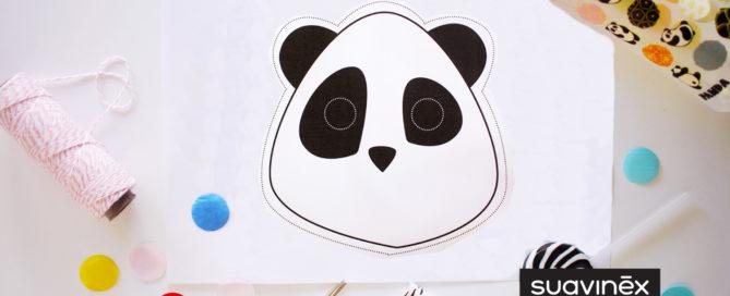 DIY Masque Panda création bricolage déguisement enfants Suavinex