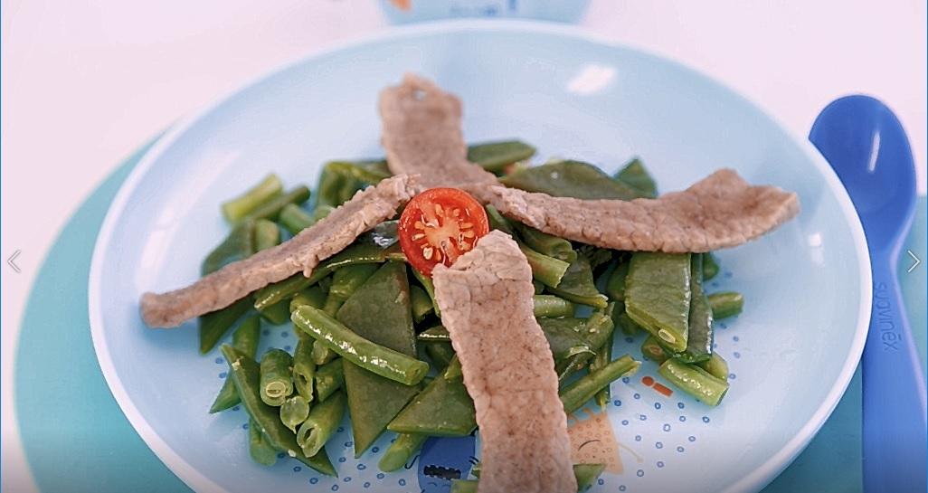 Recette Filet de veau et haricots verts bio