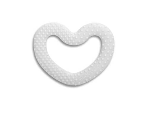 Anneau de dentition coeur blanc collection White de Suavinex