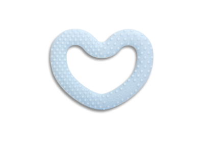Anneau de dentition coeur bleu collection White de Suavinex
