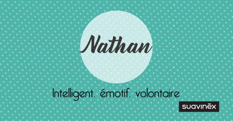 prenom nathan origine signification caractere