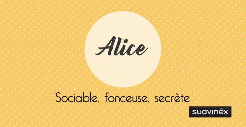 Signification du prénom Alice