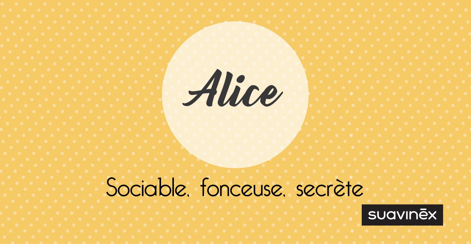 Prénom Alice : signification, caractère et petites choses à savoir