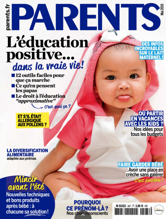 couverture magazine parents mai 2019